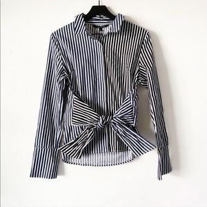 Walter Baker | Striped Navy & Black Connie Top L